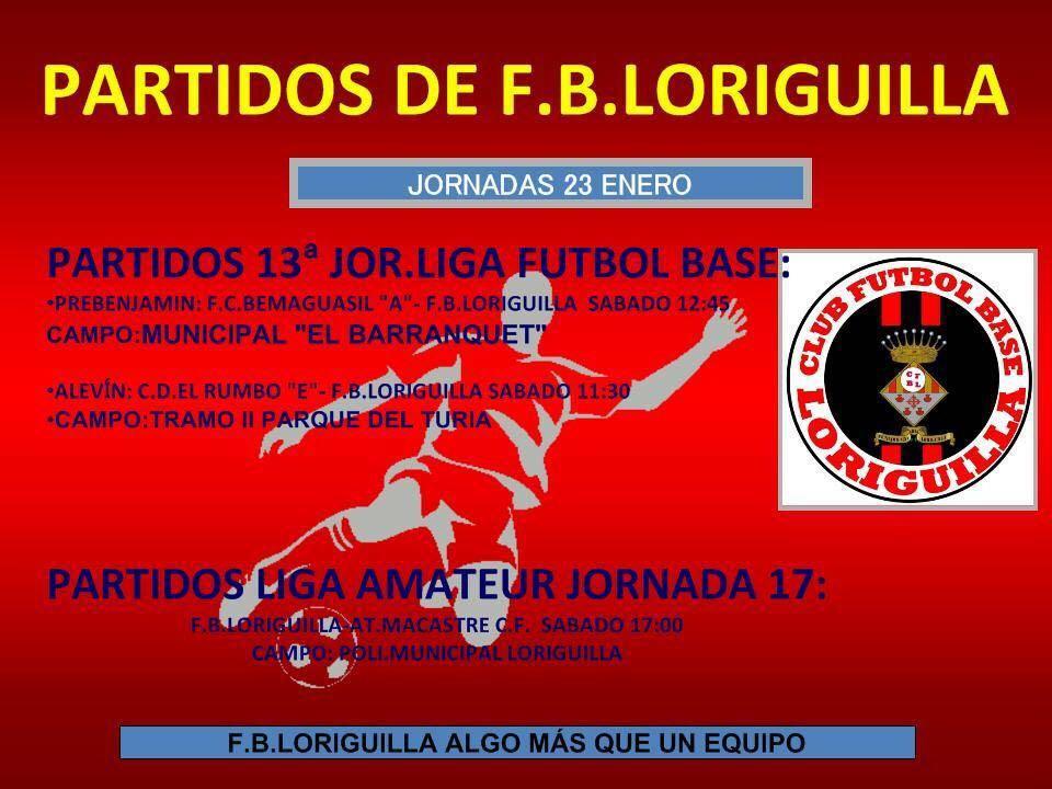Partidos de Fútbol de la Escuela Municipal de Loriguilla del 23 de enero de 2016