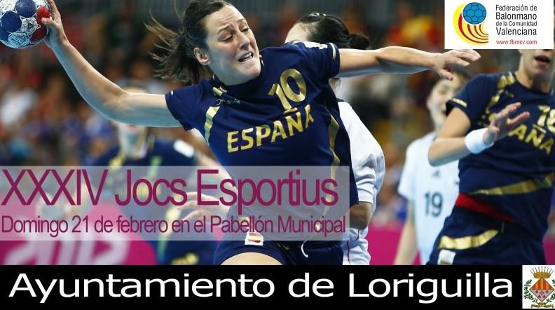 Loriguilla acoge las finales de los XXXIV Juegos de Balonmano Fase Provincial