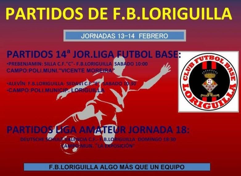 Partidos de Fútbol de la Escuela Municipal de Loriguilla del 13 y 14 de febrero de 2016