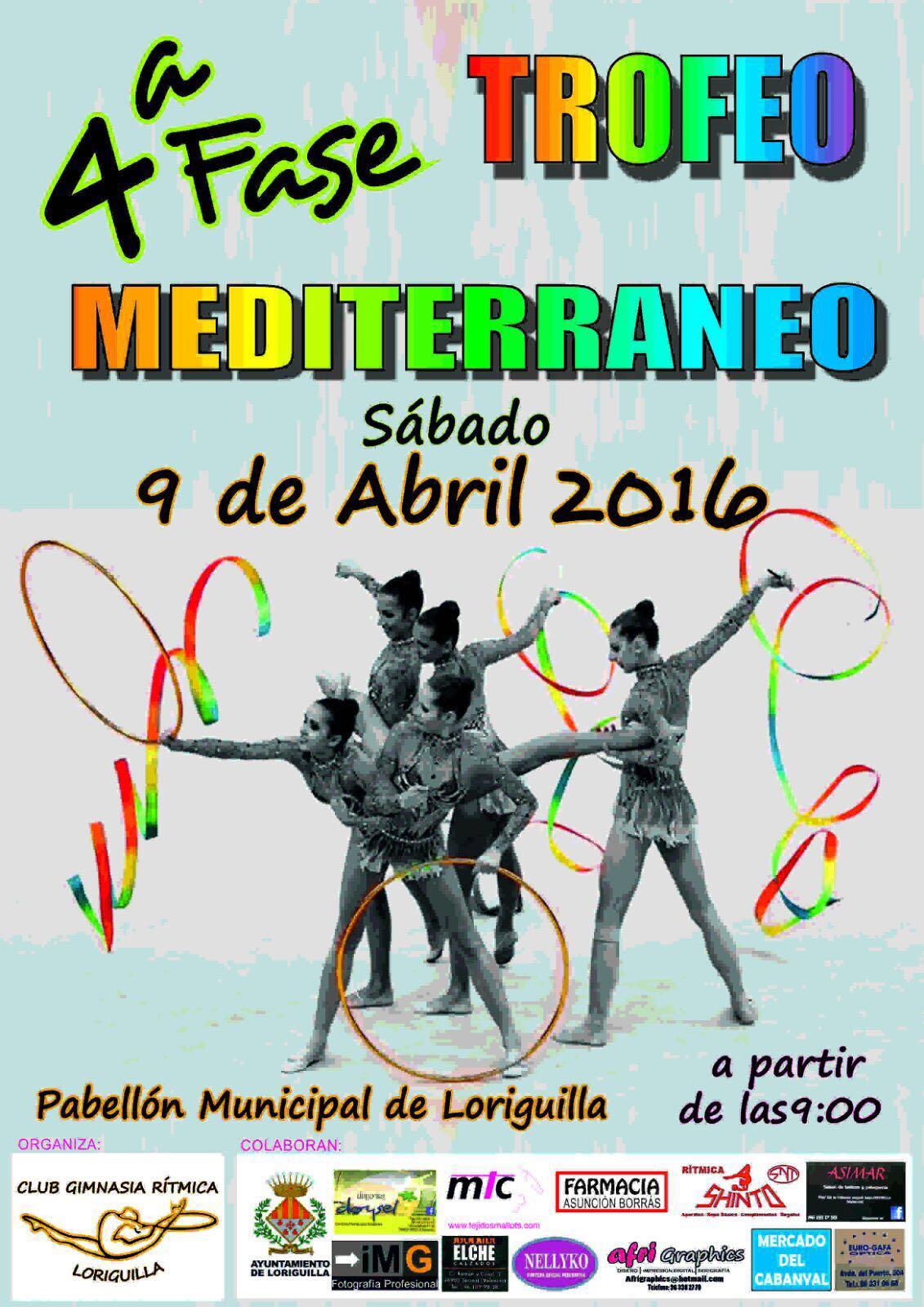 Loriguilla acoge la 4ª Fase del Trofeo Mediterráneo de Gimnasia Rítmica
