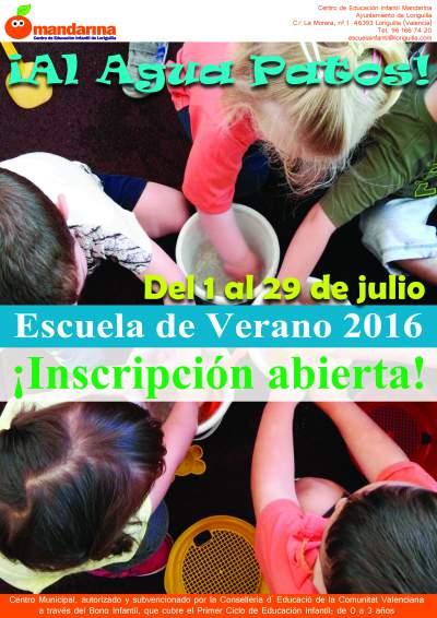 El Ayuntamiento de Loriguilla organiza las Escuelas de Verano 2016