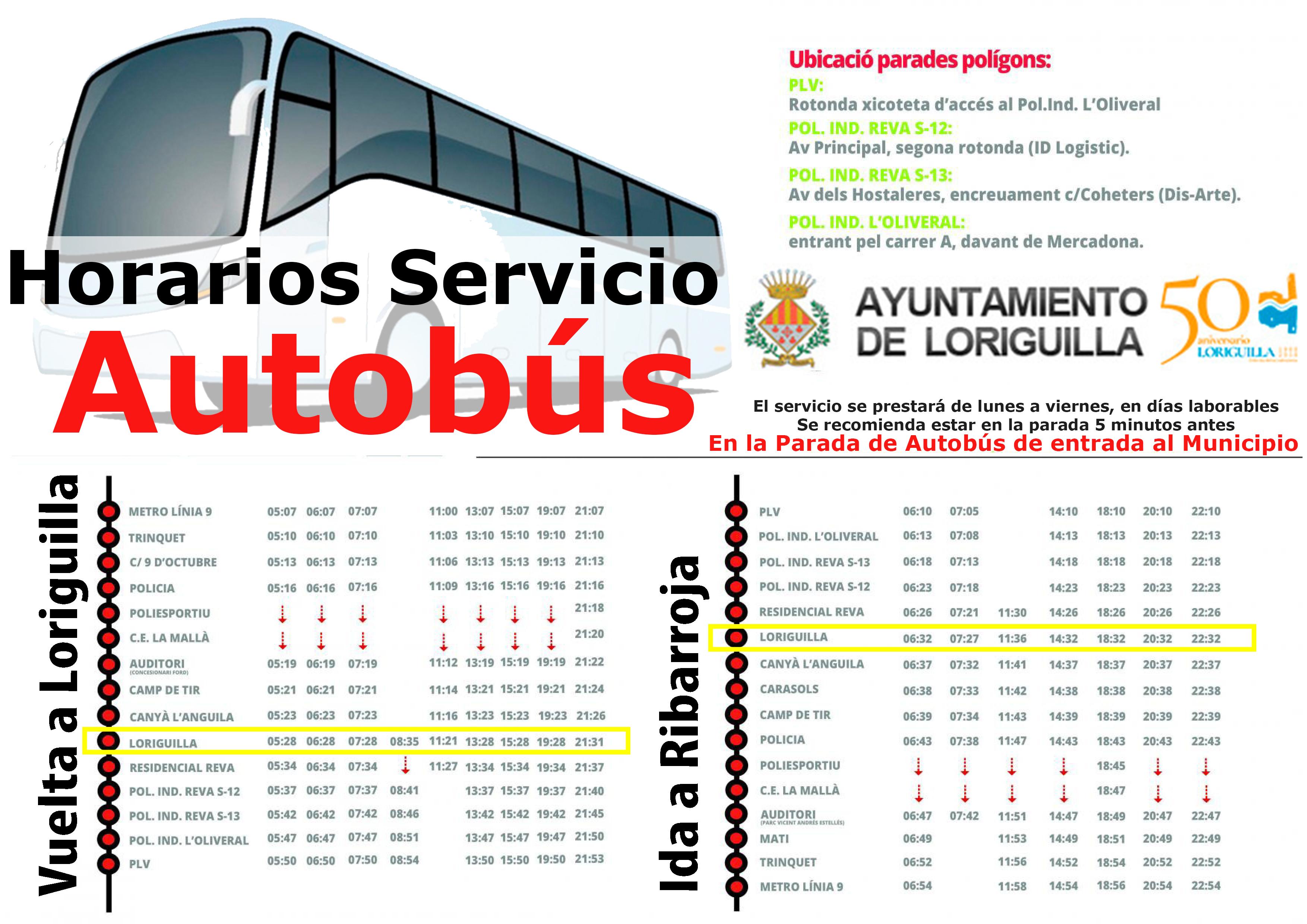 Cartel Loriguilla Bus8