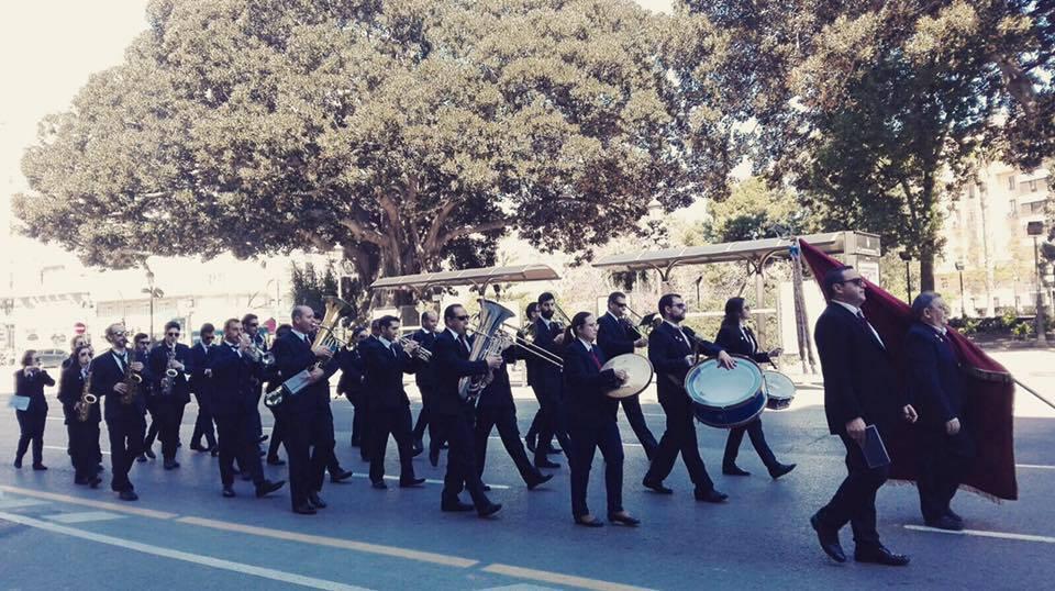 La Sociedad Musical San Juan Bautista cumple 28 años como banda de la falla Grabador Esteve-Cirilo Amorós