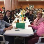 El alcalde y miembros de la corporación en la comida popular del 50 aniversario