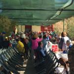 Los asistentes disfrutaron de un almuerzo nada más llegar al pueblo viejo