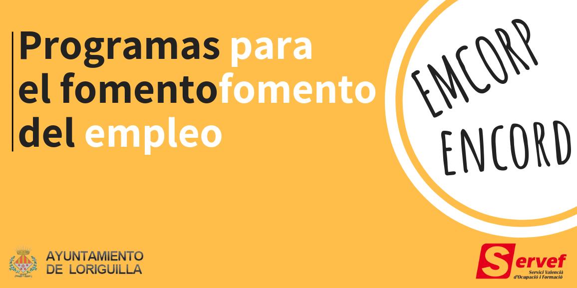 El Ayuntamiento de Loriguilla recibe más de 40.000€ para la puesta en marcha de programas de fomento de empleo dirigidos a la contratación de desempleados de larga duración y mayores de 30 años