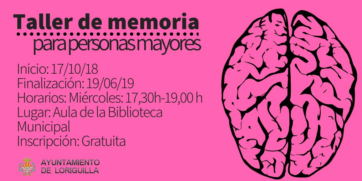 El Ayuntamiento de Loriguilla organiza un Taller de Memoria para personas mayores y amas de casa