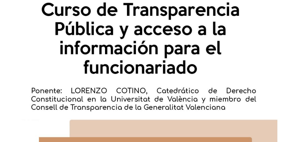 El Ayuntamiento de Loriguilla organiza un curso en transparencia pública y acceso a la información para su plantilla