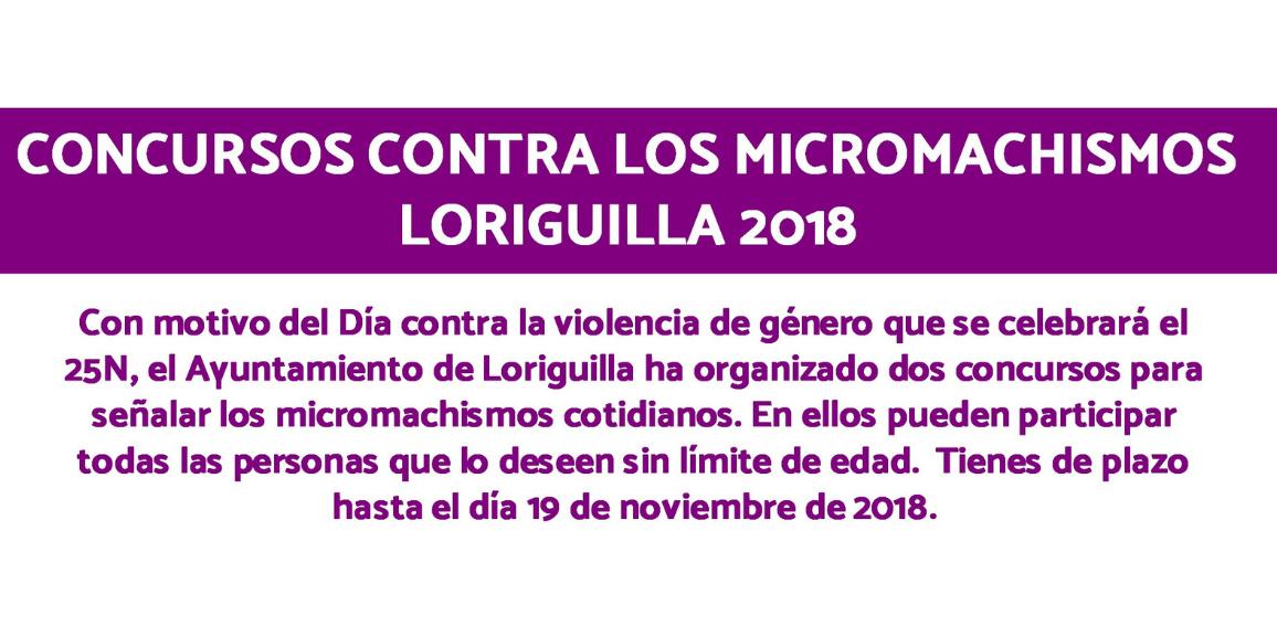 Concursos contra los machismos 2018