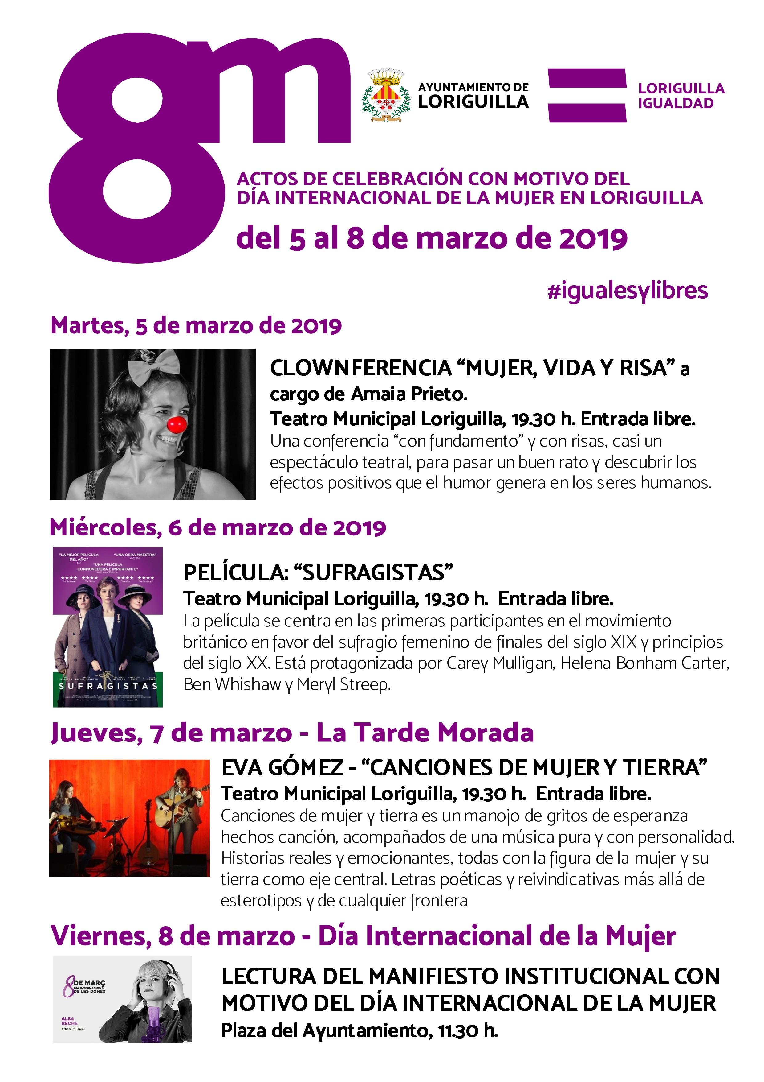 PROGRAMA DE ACTOS – DÍA INTERNACIONAL DE LA MUJER LORIGUILLA 2019