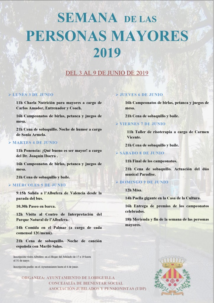 Cartel Semana mayor 2019