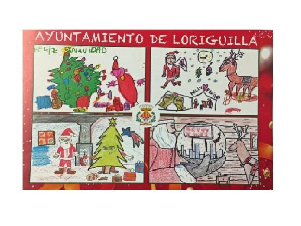 El Ayuntamiento felicita las fiestas con los ganadores del concurso de postales del colegio Mozart
