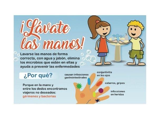 La concejalía de Educación inicia una campaña de higiene de manos en los centros escolares