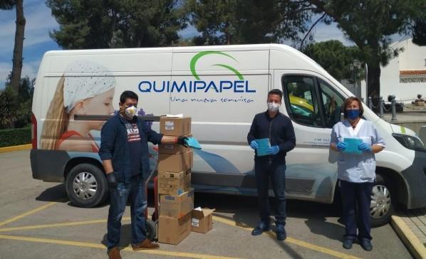 Quimipapel dona al Ayuntamiento 980 mascarillas infantiles