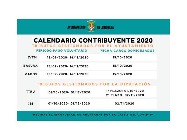 Loriguilla modifica su calendario fiscal para hacer frente al impacto negativo del coronavirus