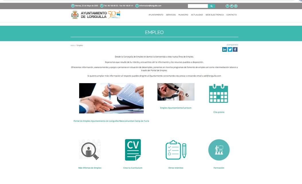Loriguilla estrena nuevo Portal de Empleo municipal