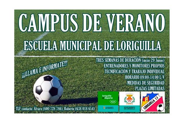 La Escuela Municipal de Fútbol organiza un Campus de Verano