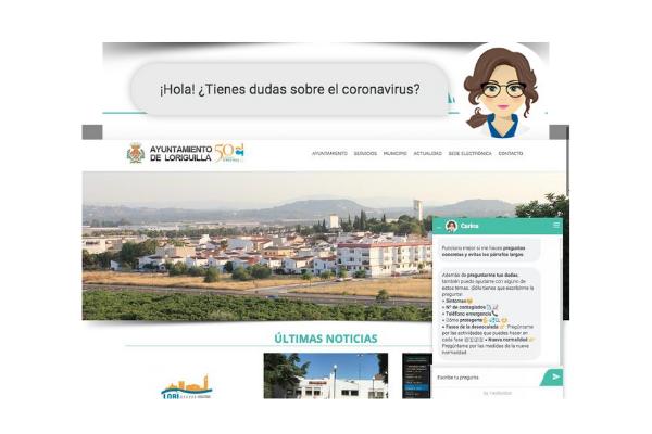 Loriguilla incorpora un asistente virtual a la web municipal para resolver dudas sobre el coronavirus