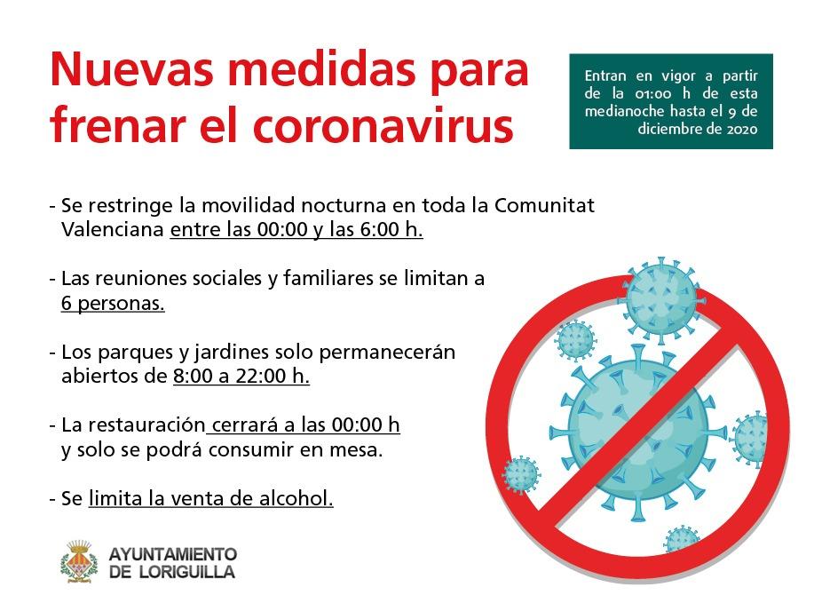 La Generalitat Valenciana aprueba nuevas restricciones para frenar el coronavirus