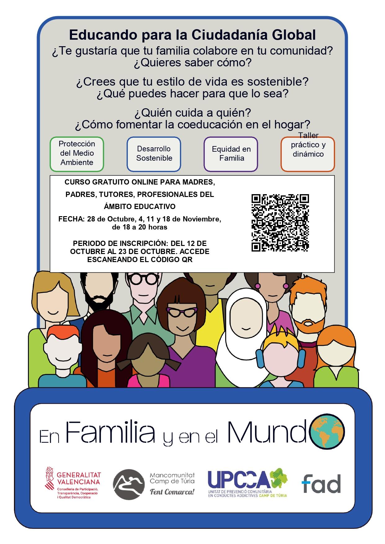 La FAD ofrece un curso de formación online gratuito para familias sobre educación global y desarrollo sostenible
