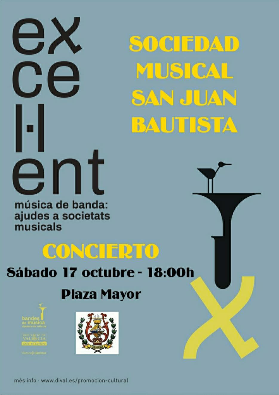 """La Sociedad Musical San Juan Bautista de Loriguilla ofrecerá un concierto el 17 de octubre en el marco del programa """"Excel·lent"""""""