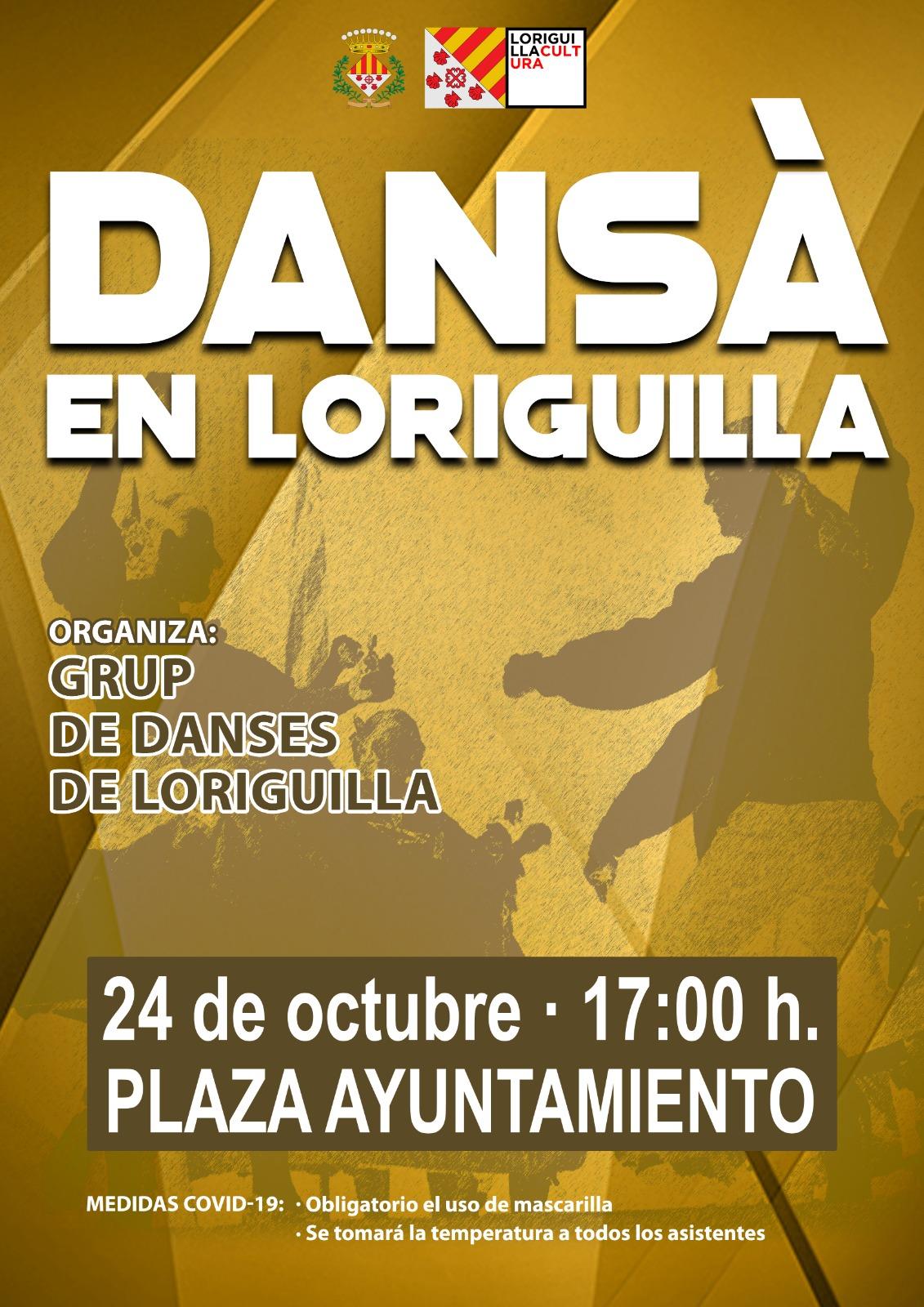 El Grup de Danses de Loriguilla actuará en la plaza del Ayuntamiento el 24 de octubre