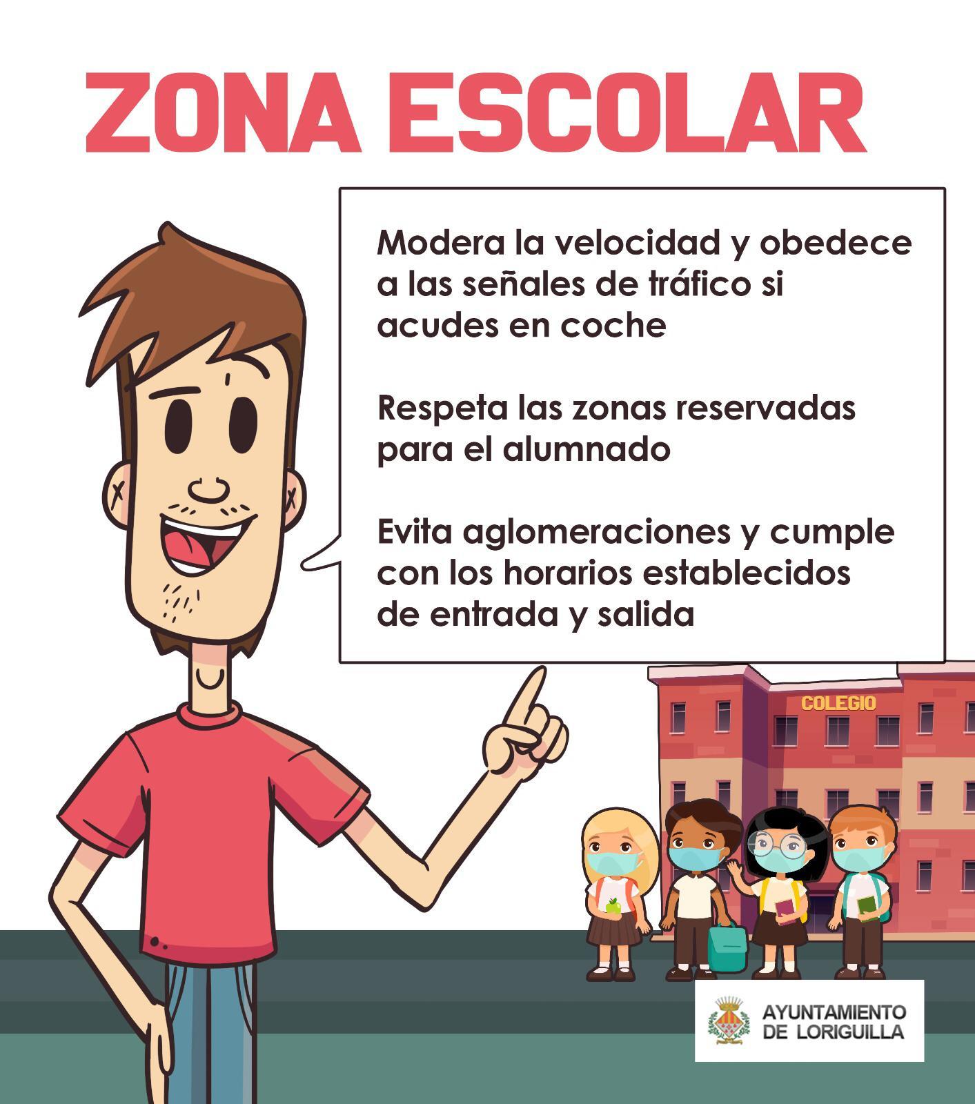 El Ayuntamiento de Loriguilla inicia una campaña de concienciación ciudadana para hacer más segura la zona escolar