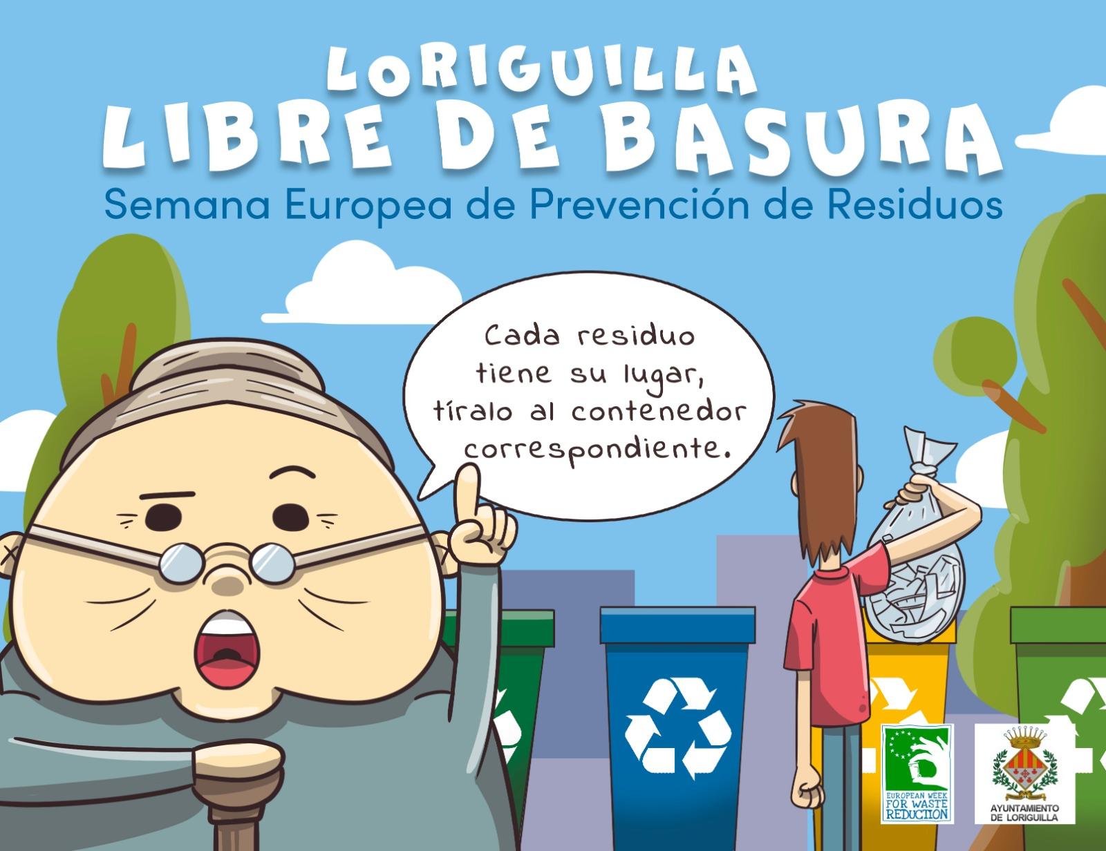 Loriguilla lanza una campaña de concienciación ciudadana para potenciar el reciclaje y hacer un buen uso de los contenedores