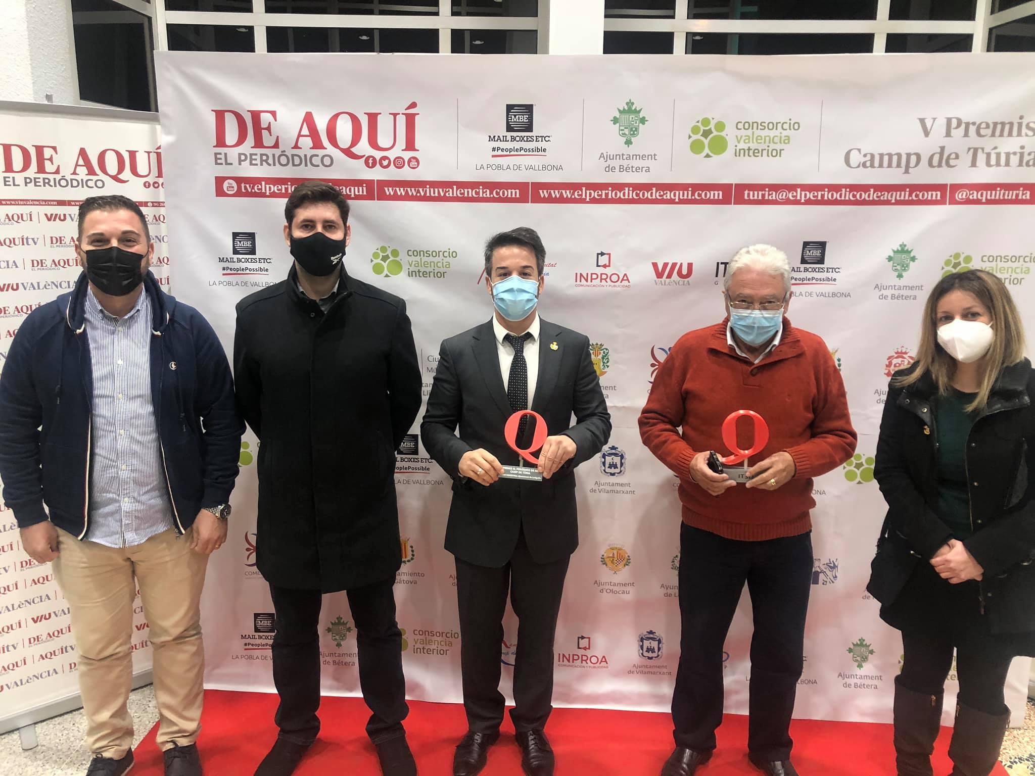 Loriguilla, galardonada con el Premio de Industria en la V gala de los premios del Periódico de Aquí