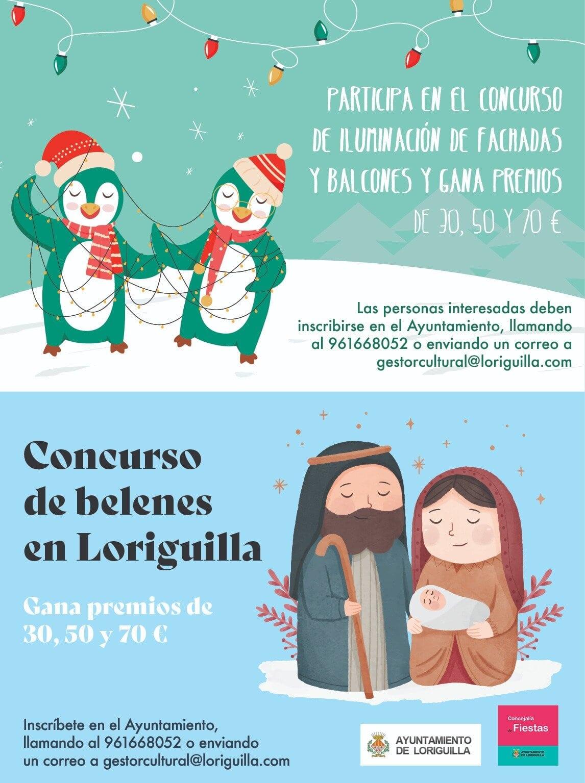 El Ayuntamiento de Loriguilla organiza un concurso de iluminación y otro de belenes