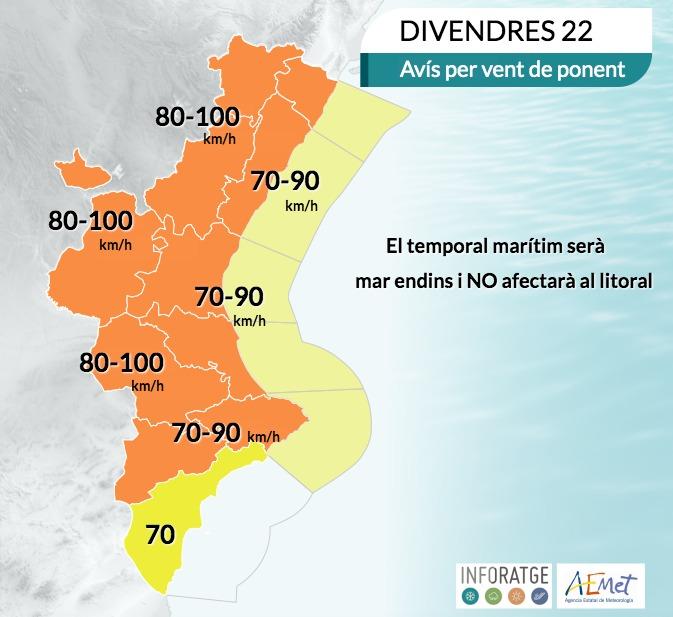 Loriguilla cierra sus parques por la alerta naranja de viento en la Comunitat Valenciana