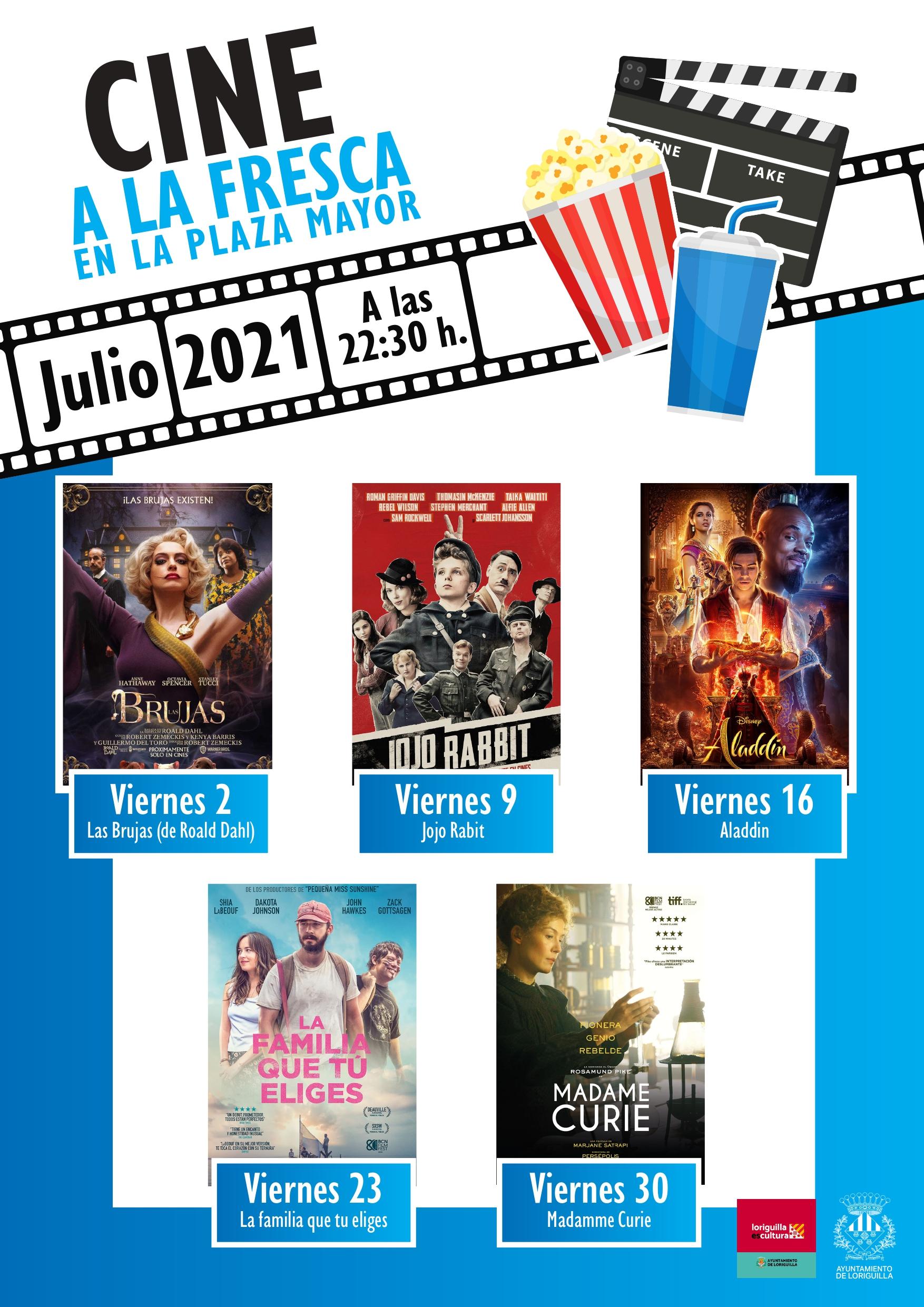 Regresa el cine de verano al aire libre en Loriguilla