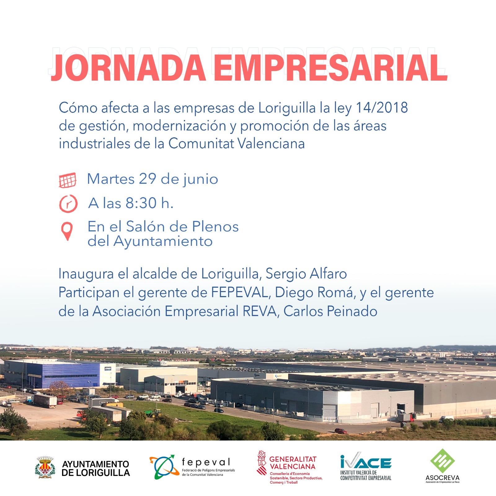 Loriguilla organiza una jornada empresarial con el fin de mejorar el parque empresarial del municipio