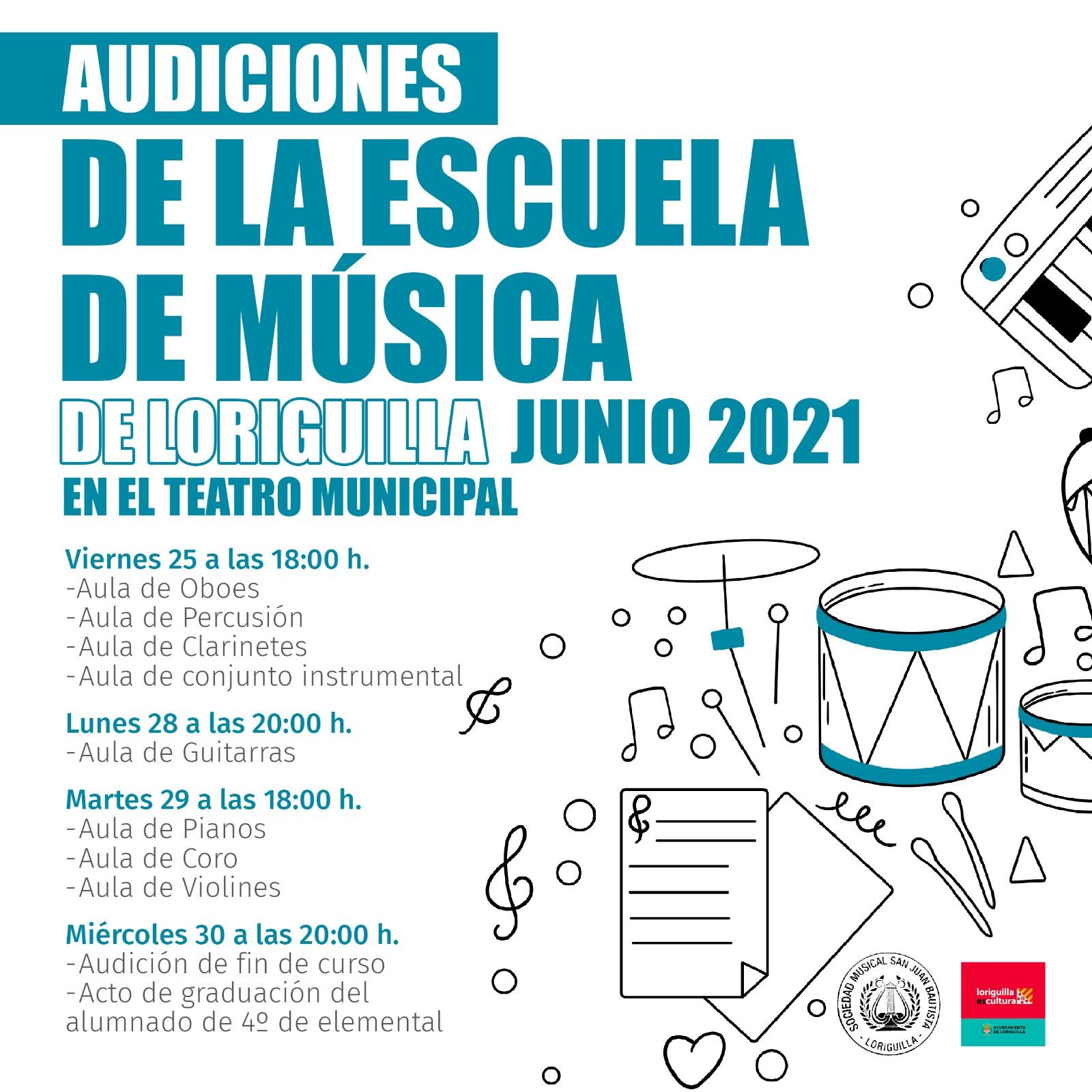La Escuela de Música de Loriguilla celebra el fin de curso con audiciones de todas sus aulas
