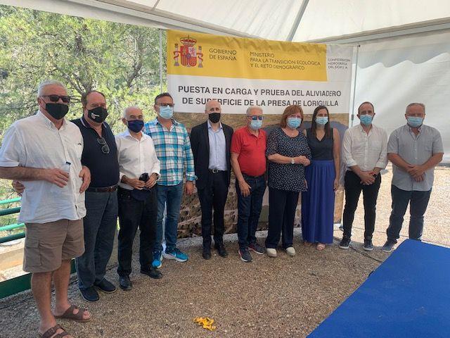 El Ayuntamiento de Loriguilla participa en la puesta en carga y prueba del aliviadero de superficie de la presa de su municipio