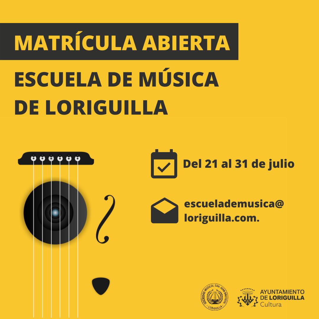 Abierto el plazo de presentación de matrícula para la Escuela de Música de Loriguilla