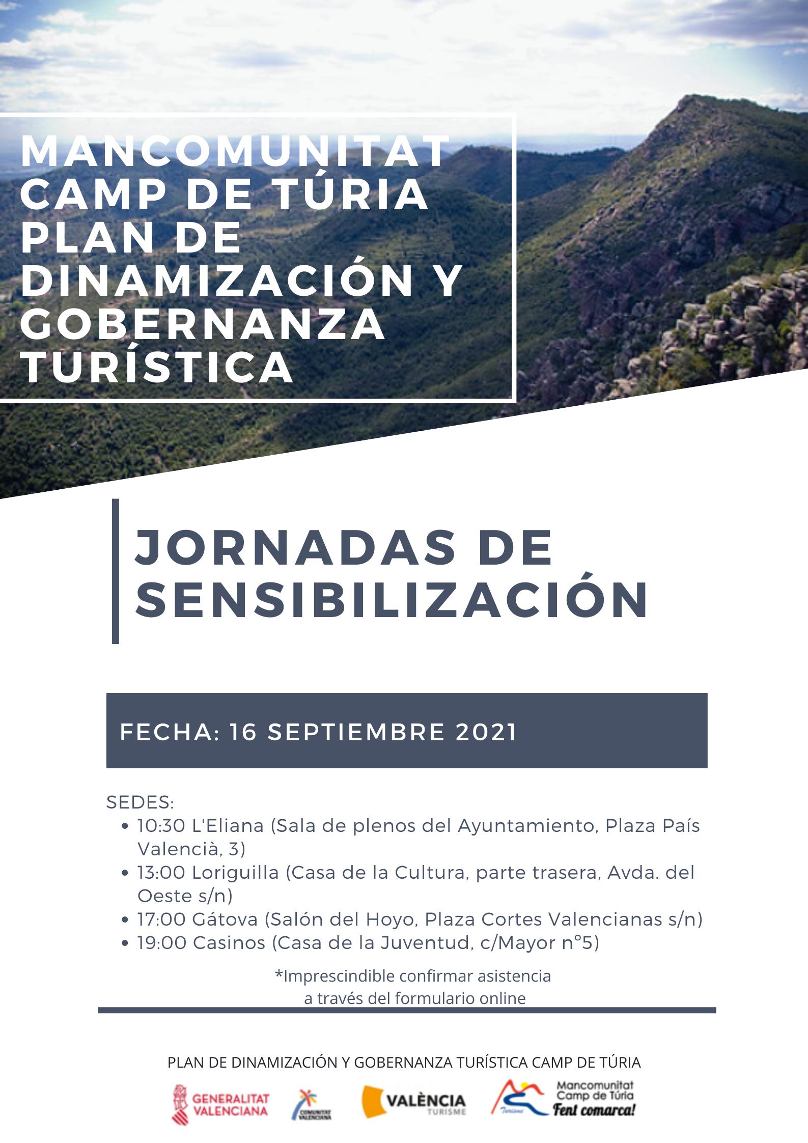 Loriguilla acogerá una jornada de sensibilización para potenciar el turismo de la comarca